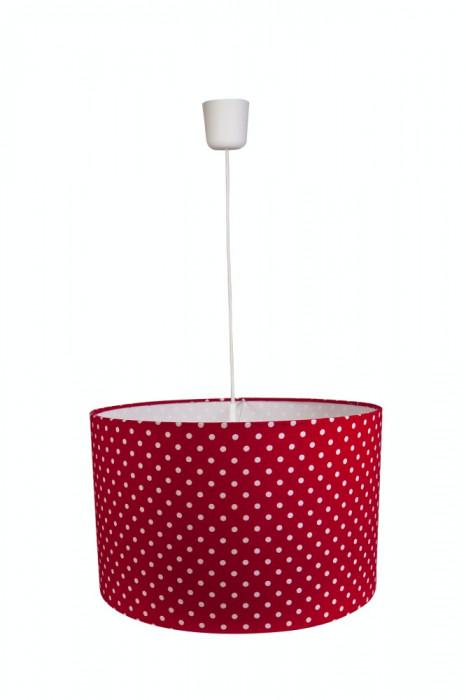 Lustra pendul abajur textil birou, bucatarie, dormitor, living Polka Dots Red foto mare