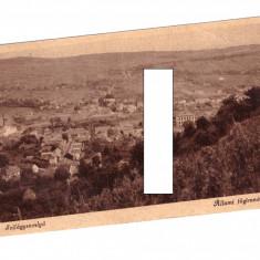CP Simleul Silvaniei - Panorama, ocupatia maghiara, 1944, circulata, Printata
