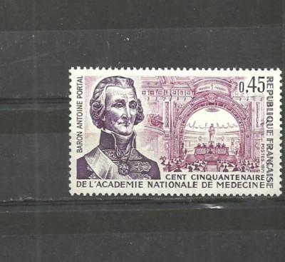 Franta 1971 - ACADEMIA NATIONALA DE MEDICINA, timbru nestampilat B186 foto