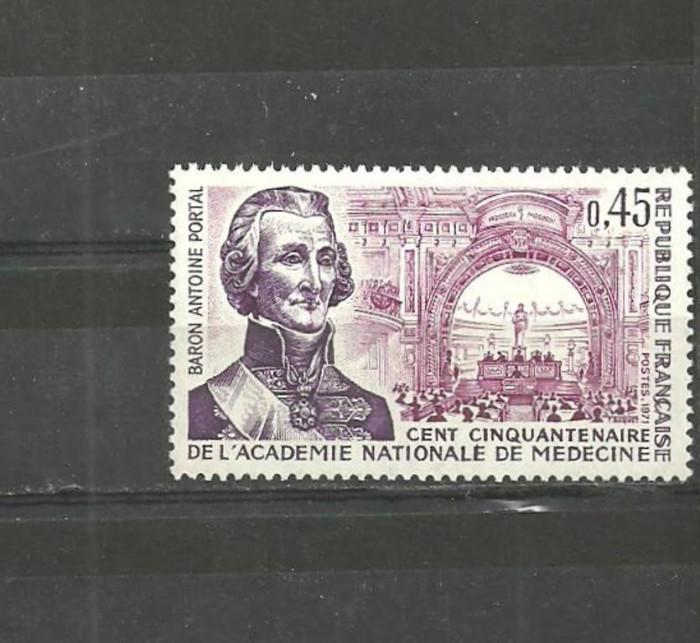 Franta 1971 - ACADEMIA NATIONALA DE MEDICINA, timbru nestampilat B186