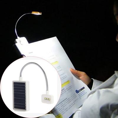 Lampa LED portabila pentru citit, incarcare solara, lumina ajustabila, Lixada foto