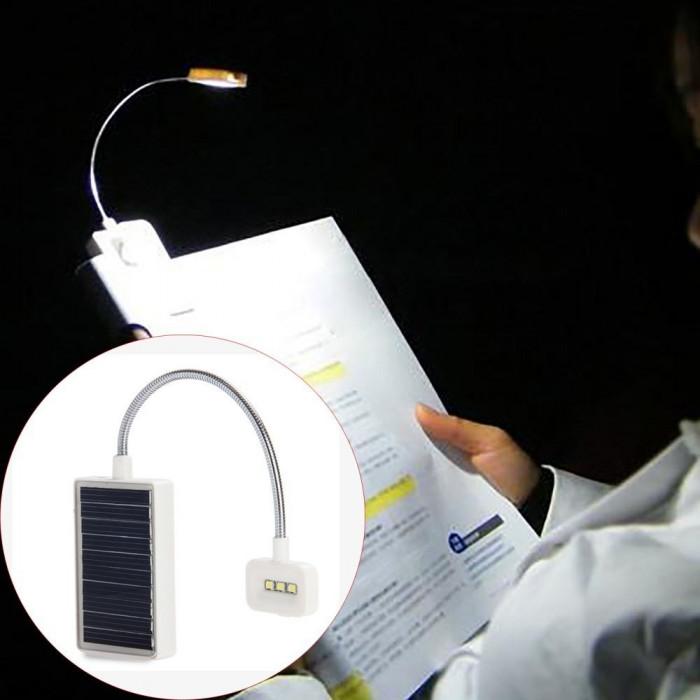 Lampa LED portabila pentru citit, incarcare solara, lumina ajustabila, Lixada foto mare