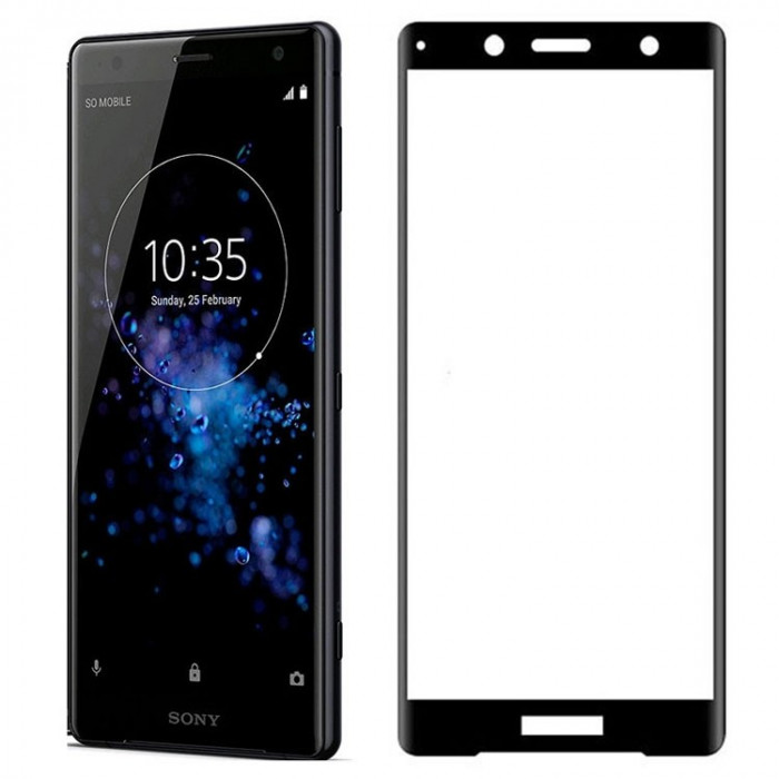 Folie Sony Xperia XZ2 Compact Iberry Tempered Glass 3D Black