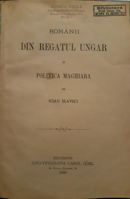 Slavici Princeps: Romani din Regatul Ungar, bucuresti, 1892 foto