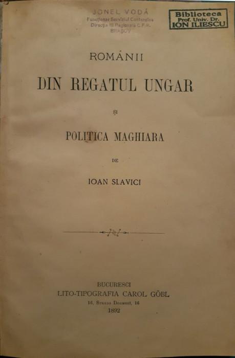 Slavici Princeps: Romani din Regatul Ungar, bucuresti, 1892
