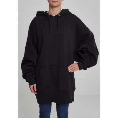 Hanorac Dama Long Oversize Hoody negru foto