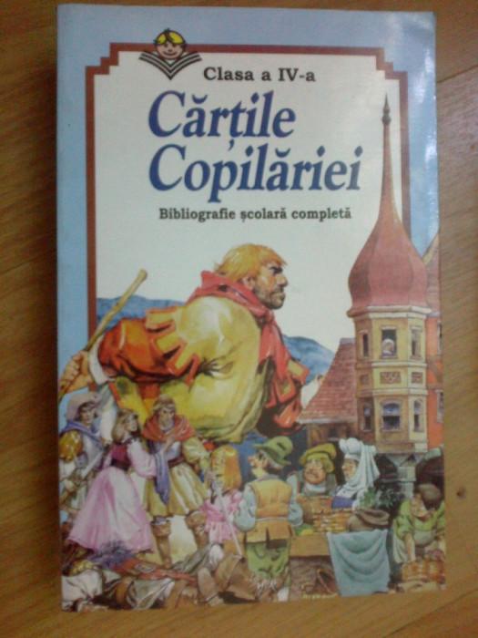 w4 Cartile Copilariei - clasa IV  - bibliografie scolara completa foto mare