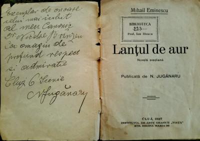 Eminescu, LANTUL DE AUR, Cluj, 1927 - cu dedicatia editorului foto
