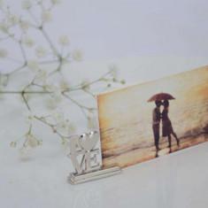 Marturie nunta/botez - Suport card/foto cu inscriptia Love