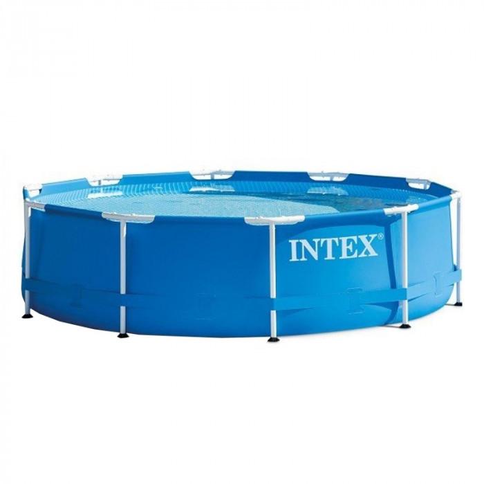 Piscina rotunda Intex, 305 x 76 cm, cadru metalic, sistem filtrare inclus foto mare