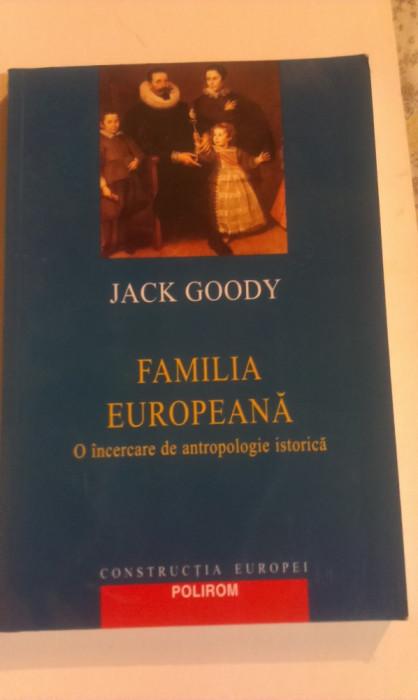 FAMILIA EUROPEANA - O INCERCARE DE ANTROPOLOGIE ISTORICA foto mare