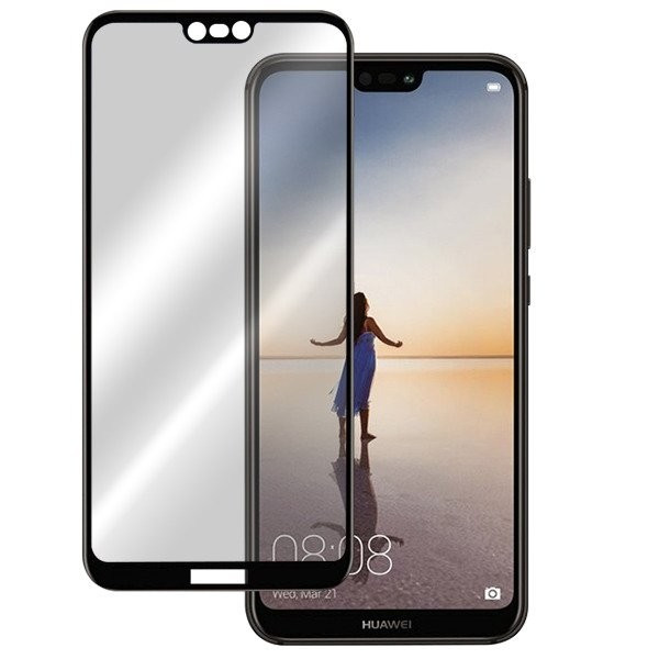 Folie Sticla Huawei P20 Lite X One Tempered Glass 3D Black foto mare