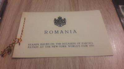 Romania 1939 Expozitia mondiala New York carnet special foto