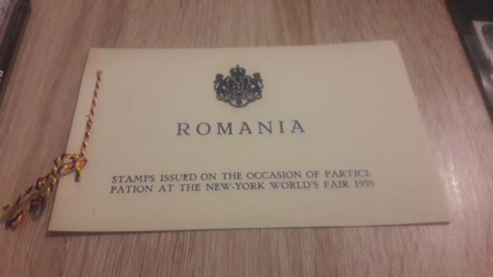 Romania 1939 Expozitia mondiala New York carnet special