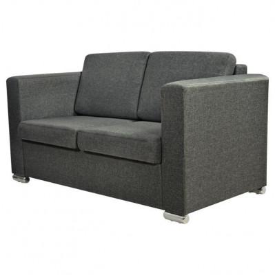 Canapea pentru 2 persoane, gri închis foto