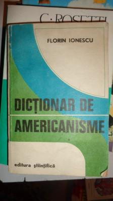 DICTIONAR DE AMERICANISME 268PAGINI= FLORIN IONESCU foto