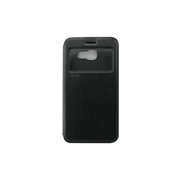 Husa Flip Cover Roar Noble pentru Samsung Galaxy A5/2016 A510 Negru