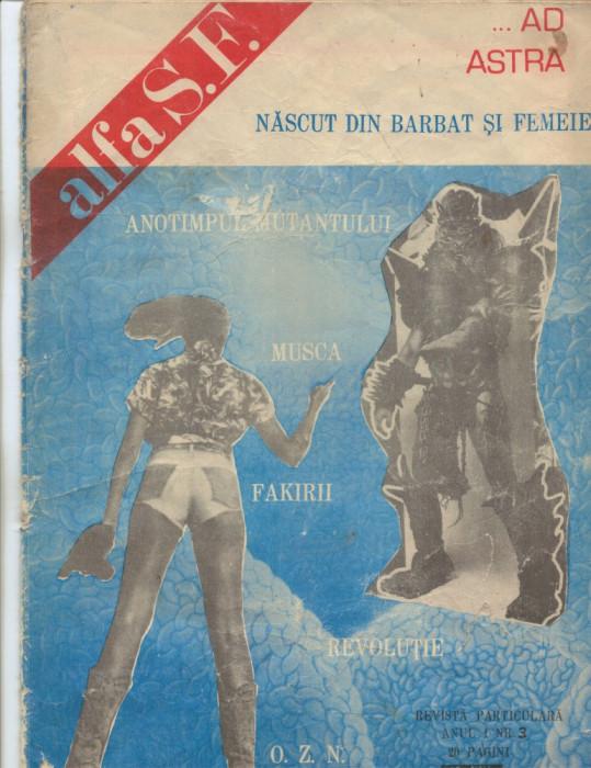LOT ===TREI Reviste SF -- ALFA  primele numere - de colectie foto mare