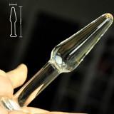 Dop Anal Pyrex Plug Sticla Glass Clear Small Butt Sex Play Luxury Cristal