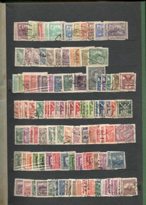 CEHOSLOVACIA.Lot peste 2.500 buc. timbre stampilate multiple+BONUS CLASOARELE foto mare