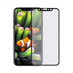 Folie Sticla iPhone X - 5D Pentru tot ecranul cu margine Neagra