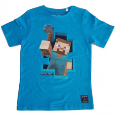 Tricou Minecraft T-Shirt  Steve Adventure!!! 7-12 ani + CADOU - Original JINX !!, YL, YM, YS, Din imagine, Unisex