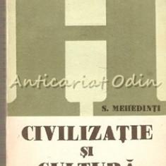Civilizatie Si Cultura - S. Mehedinti - Carte Istorie