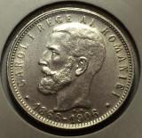 1 Leu 1906 Ag, Romania a UNC, Argint
