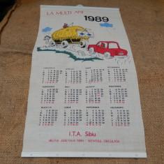 Calendar 1989, Militia Judetului Sibiu.