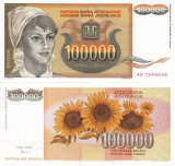 IUGOSLAVIA 100.000 dinara 1993 UNC!!!