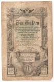 AUSTRIA 1 GULDEN 1866 U
