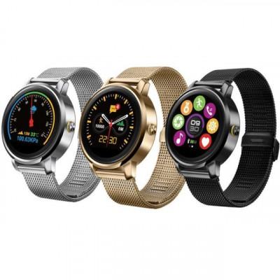 Smartwatch Bluetooth 4.0, 18 functii, apel, iOS Android, curea meralica, Sovogue foto