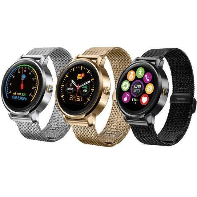 Smartwatch Bluetooth 4.0, 18 functii, apel, iOS Android, curea meralica, Sovogue foto mare