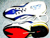 Adidasi Nike panza albi cu albastru nr 36, 37, 38, 39, Alb