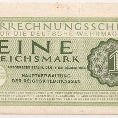 GERMANIA 1 Reichsmark MARCA 1944 VF