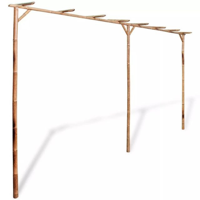 Pergolă din bambus 385 x 40 x 205 cm foto mare