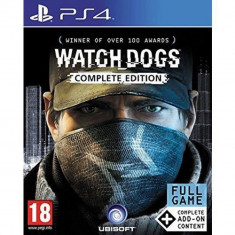 WATCH DOGS COMPLETE EDITION - Watchdogs - PS4 PlayStation 4 [Second hand] - Jocuri PS4, Actiune, 18+, Single player