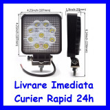 Cumpara ieftin Proiector LED Lucru Santier  OFFRoad Patrat lumina Spot 27W F15-2, Universal