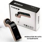 Modulator FM Bluetooth HandsFree G7 / Car Kit Auto Bluetooth USB,SD,MP3 Negru