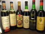 6 sticle vin vechi, de collection (LOT: E) recoltare 1959/1961/?/1970/1971/1972, Sec, Rosu, Europa