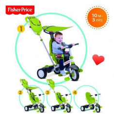 Tricicleta copii 3 in 1 Fisher-Price Charisma Verde