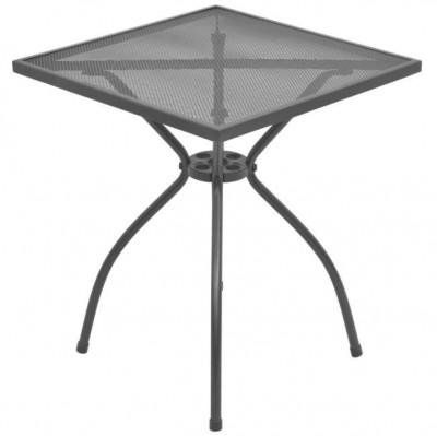 Masă de exterior tip bistro, plasă din oțel, 60 x 60 x 70 cm foto