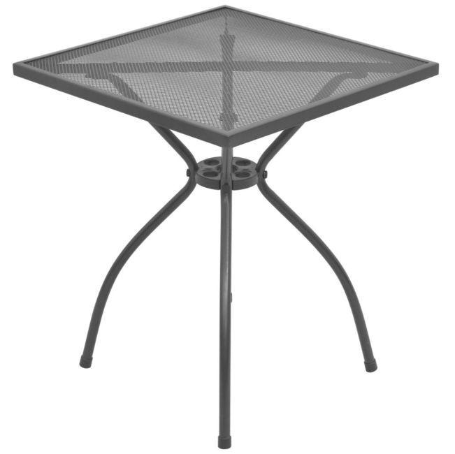 Masă de exterior tip bistro, plasă din oțel, 60 x 60 x 70 cm foto mare