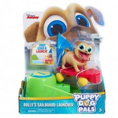 Figurina cu lansator Rolly - Prietenii Catelusi, Disney