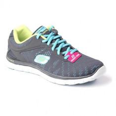 Adidasi Femei Skechers Flex Appeal First 11886CCAQ, 37, Gri