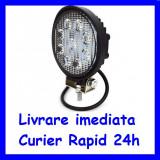 Cumpara ieftin Proiector LED 12V - 24V Lucru Santier  OFFRoad ROTUND lumina FLOOD 27W F18-2