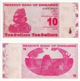ZIMBABWE 10 dollars 2009 UNC!!!