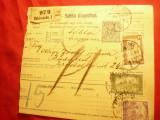 Buletin de Expeditie Ungaria 1918 cu marca fixa  10 filler Bekescoba-Budapesta