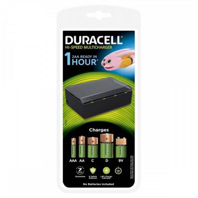 Incarcator acumulatori universal Duracell CEF22 capacitate de 4 acumulatori simultan Negru foto