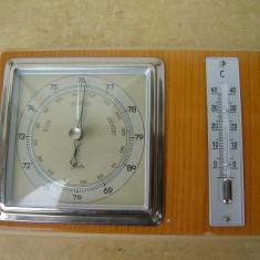 Barometru mecanic si termometru de marca SCHOLZ - Statie meteo